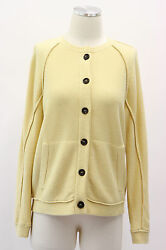 NWT $3160 Brunello Cucinelli Women's Yellow Knit Cardigan Cashmere Blend Size M