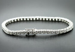 18ct Gold Diamond Tennis Bracelet 10.62ct G SI Quality Hand Made In Macclesfield