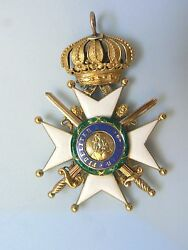 AUSTRIA PRUSSIAGERMANY SAXE ORDER OF MILITARY MERIT W SWORDS GOLDvery rare
