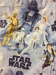 HTF 2008 Pottery Barn Kids Star Wars quot;A New Hopequot; Full Flat Fitted Sheet set $89.99