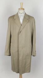 New D'AVENZA Beige Cashmere Blend Full Length Coat 5040 R $3995