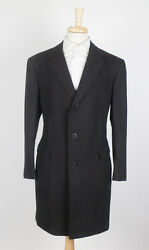 New D'AVENZA Brown Herringbone Cashmere Blend Full Length Coat Size 4838R $3995