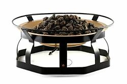Propane Patio Fire Pit Large With Attractive Copper And Black Colored Design New