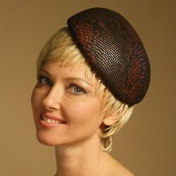 Snake Print Beret Hat-Leather Beret-Winter Hats -Fall Hats-Millinery Shop Online