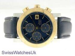 GIRARD PERREAGUX VINTAGE  STAINLESS STEEL & GOLD MENS WATCH