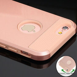 Rose Gold Slim Case Shockproof Hard Armor Rubber Back Cover for iPhone 6s 6 Plus