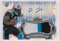 2015 Topps Finest Pulsar Refractor Devin Funchess Auto 3 Color Patch Rc # to 35 $37.95