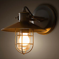 Vintage Bar Cafe Wall Sconces Lampshade Wall Light Fixtures Outdoor Hanging Lamp