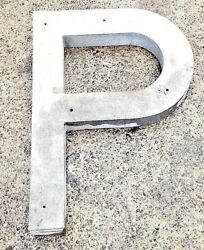 Commercial Building Indoor Outdoor Sign Letter P Cast Aluminum 30 inches