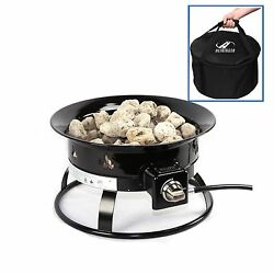 Portable Propane Fire Pit with Carry Bag Camping Outdoor Patio Backyard Deck