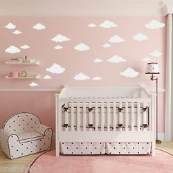 Clouds Wall Decal 24 Child's Bedroom Nursery Baby Kids Vinyl Sticker Decor    $11.99