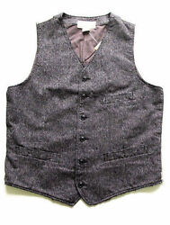 POLO RALPH LAUREN DENIM AND & SUPPLY GRAY TAILORED PINSTRIPE JASPE VEST $125+