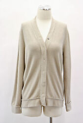 .NWT $2635 Brunello Cucinelli Women's Cashmere Beautiful Knit Cardigan Size M