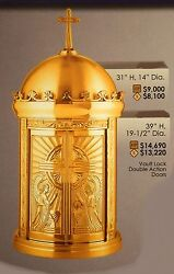 + New Bronze Tabernacle with Angels + 31