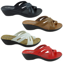 New Womens Sets Of Toe Sandals Wedge Shoes Low Heels HOPE 09 $9.95