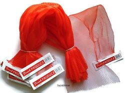 100 pcs 25quot; Red Reusable Nylon poly Mesh Produce net Grocery Bag w paper tab $129.25
