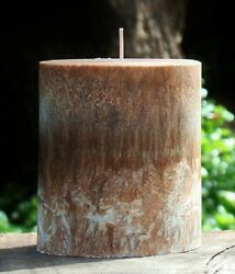 80hr EXOTIC AMBER & SPICE Triple Scented Natural Oval CANDLE Cinnamon Nutmeg  $17.56