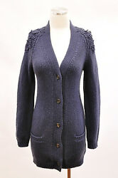 NWT.$3225 Brunello Cucinelli Womens 100% Cashmere Chunky Embroidered Cardigan M