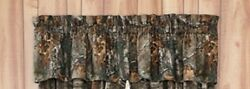Set of (Two) Realtree Xtra Camo Valances -Cabin Bedding Hunting Window Treatment