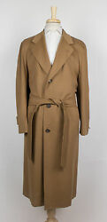 New D'AVENZA Camel Brown Cashmere Full Length Coat 6050 R  $4995