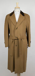 New D'AVENZA Camel Brown Cashmere Full Length Coat Size 5848 R  $4995