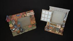 2 Garden Themed~Picture Frames~Potting Shed~Bird Houses~She Shed~Tools~Water Can