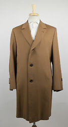 New D'AVENZA Camel Brown Cashmere Blend Full Length Coat Size 5646 R $4295
