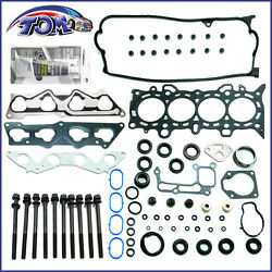 Brand New 01-05 1.7L Honda Civic Dx Lx Vtec D17A1 Head Gasket Set + Head Bolts