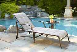 Statesville Padded Patio Reclining Chaise Outdoor Lounge Poolside Deck Furniture
