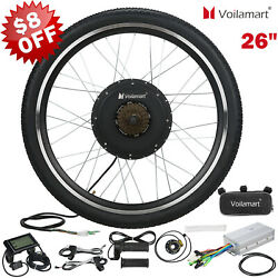 Electric Bicycle Kit 48V 1000W Rear Wheel E Bike Motor Conversion Hub LCD Meter $223.99