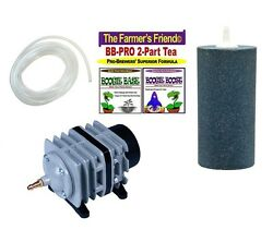 Boogie Brew PRO Kit 3lb Boogie Tea amp; 45L Air Pump amp; LARGE Stone amp; Tubing $98.95