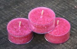 10pk PINK CHAMPAGNE & EXOTIC FRUITS Natural TEA LIGHT CANDLES 60 hrspack GIFTS $14.04