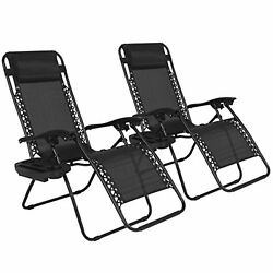 Outdoor Yard Beach adjustable padded headrests Chairs fold up easily equipped