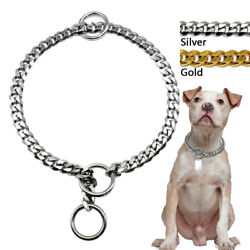 Luxury Cuban Link Pet Dog Chain Collars Stainless Steel Durable Gold Silver $14.99