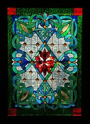 VICTORIAN HERITAGE STAINED GLASS LEADLIGHT FRONT DOOR  WINDOW Hand Crafted