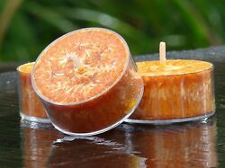 10pk EXOTIC AMBER & SANDALWOOD Triple Scented TEA LIGHT CANDLES 60 hrspack GIFT $14.04