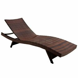 Wicker Multi-brown Outdoor Adjustable Lounges - Set of 4