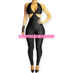 New Women Sexy Sleeveless Backless Club Wear  Jumpsuit&Rompers Bodycon Bodysuit  $18.88