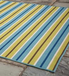 Surry Indoor  Outdoor Rug with Striped Design 7'10'' X 10'10''