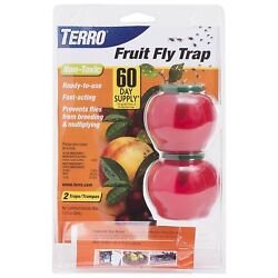 TERRO T2502 FRUIT FLY TRAP LURE NON TOXIC INSECT 2500 SALE WORKS AMAZING SALE $9.99