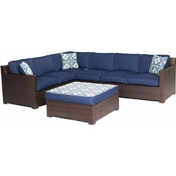 Lounge Seating Group 5 Piece Cushions Table Outdoor Patio Garden Lawn Furniture