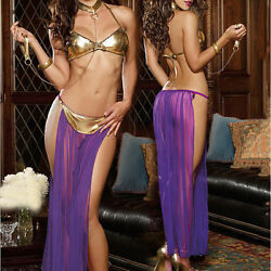 1Set Patent Leather Perspective Lingerie Long Nightwear Dancing Dress