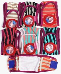 SET 3pcs Striped Diapers Dog Male Boy BELLY BAND For Small Dogs XXS XS S M L $11.99