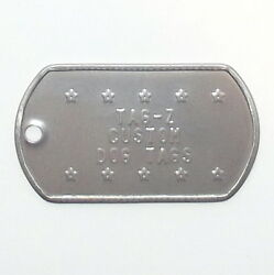 2 Military Dog Tags Custom Embossed GI ID Tags Personalized Tag Replacement $5.00