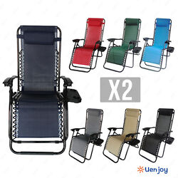 Zero Gravity Chairs Case Of 2 Lounge Patio Chairs Outdoor Yard Beach New wtray