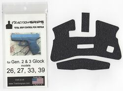 Tractiongrips rubber grip tape overlay for Generation 3 Glock 26 27 33 39 $11.50