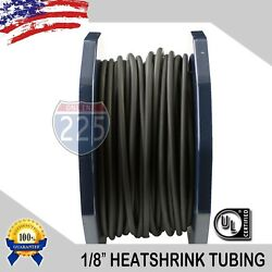 100 FT. 100#x27; Feet BLACK 1 8quot; 3mm Polyolefin 2:1 Heat Shrink Tubing Tube Cable UL $9.99