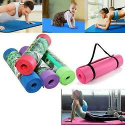 Extra Thick Non slip Yoga Mat Pad Exercise Fitness Pilates w Strap 72quot; x 24quot; $14.99