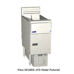 Pitco SE18RS-4FD Solstice Electric Fryer w Filter Four 70-90 lb. Capacity Tanks