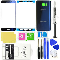 Front Screen Glass Back Replacement Glass Kit for Blue Samsung Galaxy Note 5 $23.75